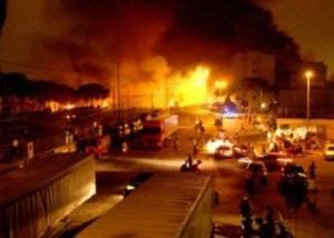 Explosión de un tren en Italia