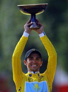 Alberto Contador ganador del Tour