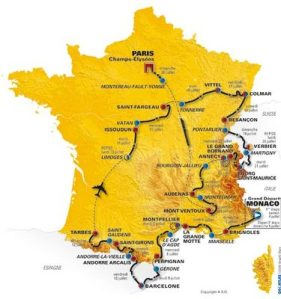 Recorrido Tour de Francia